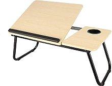 MQJ Folding Table,Folding Laptop Desk for Bed