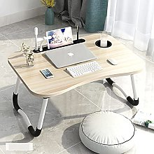 MQJ Folding Table,Home Folding Laptop Desk for Bed