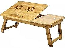 MQJ Folding Table,Nature Bamboo Laptop Table