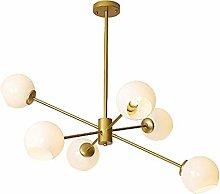 MQJ Nordic Style Sputnik Chandelier Golden 10