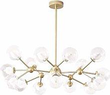 MQJ Sputnik Chandelier,12 Lights Modern Gold