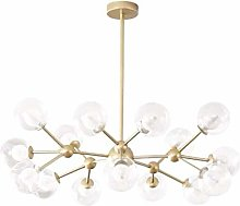 MQJ Sputnik Chandelier,15 Lights Modern Gold