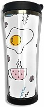 MQJJ 14oz Doublelayer Vacuum Insulated Coffee Cup