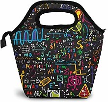 MQJJ Lunch Tote Bag Educational Back to School
