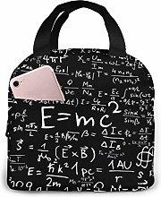 MQJJ Math Formulas Neoprene Lunch Bag Insulated