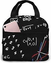 MQJJ Math Formulas Teacher Neoprene Lunch Bag