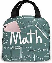 MQJJ Math Word Neoprene Lunch Bag Insulated Lunch