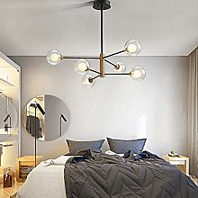 MQQ Nordic Creative Chandelier, Glass Lampshade