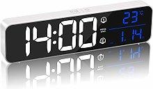 MQUPIN Digital Alarm Clock with Temperature &