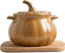 MQXW Creative Ceramic Casserole Creative Soup Pot