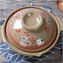 MQXW Soup Pot Crock Pot Casserole Ceramic Saucepan