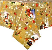 Mr Crimbo Gold Christmas Wipe Clean PVC Vinyl