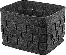 Mr.do Felt Basket Storage Basket in Dark Grey for