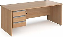Mr Office Contract 25 straight desk with 3 drawer