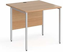 Mr Office Contract 25 straight desk with silver
