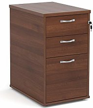 Mr Office Desk high 3 drawer pedestal with silver