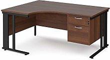 Mr Office Maestro 25 left hand ergonomic desk with