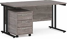 Mr Office Maestro 25 straight desk 800mm deep with