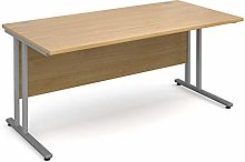 Mr Office Maestro 25 straight desk - silver frame,