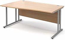 Mr Office Maestro 25 wave desk - silver frame,