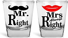 Mr. Right & Mrs. Always Right Funny Novelty
