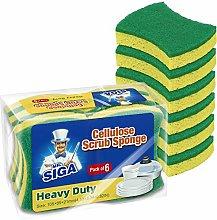 MR.SIGA Heavy Duty Cellulose Scrub Sponge,
