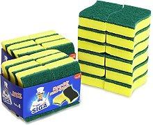 MR. SIGA Heavy Duty Scrub Sponge, 24 Count,