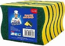 MR.SIGA Heavy Duty Scrub Sponge, Pack of 12,