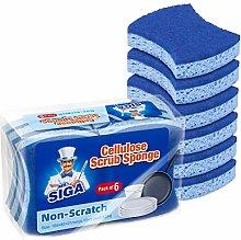 MR.SIGA Non-Scratch Cellulose Scrub Sponge,