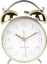 Mr. White Tabletop Clock Karlsson Colour: Gold