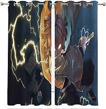 MRFSY Demon Slayer Blackout Window Curtain,Cartoon