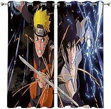 MRFSY Naruto Blackout Window Curtain,Cartoon