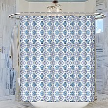 MRFSY Talave Shower Curtain Blue Moroccan Shower