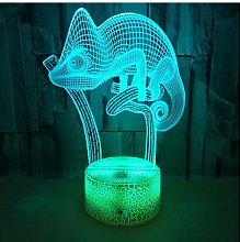 MRQXDP Chameleon Led 3D Night Light Touch Sensor 7