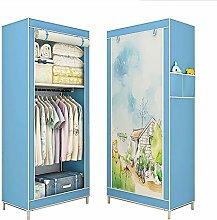 MrRong Folding wardrobe,Single Canvas Wardrobe