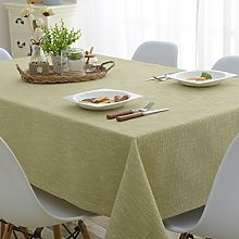 Mrs Sleep Cotton Linen Tablecloth Solid Green