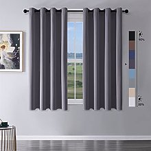 MRTREES Blackout Curtains Bedroom 54 Drop 2 Panels