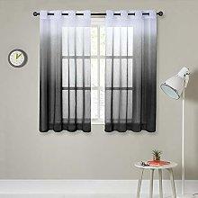 MRTREES Faux Linen Voile Curtains 63 Inch Drop 2