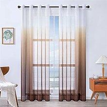 MRTREES Faux Linen Voile Curtains 96 Inch Drop 2