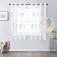 MRTREES Voile Curtain 63 Inch Drop Leaves