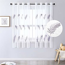 MRTREES Voile Curtain 69 Inch Drop Feather