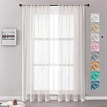 MRTREES Voile Curtains 102 Drop 2 Panels Faux