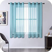 MRTREES Voile Curtains 57 Inch Drop 2 Panels Faux