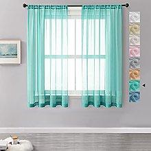 MRTREES Voile Curtains 63 Drop 2 Panels Faux Linen