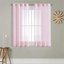 MRTREES Voile Curtains 63 Inch Drop 2 Panels Faux