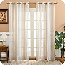 MRTREES Voile Curtains 69 Drop 2 Panels Cream and