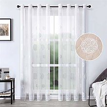 MRTREES Voile Curtains 88 Inch Drop Nest