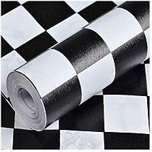 MRZHW PVC wallpaper Black and White Checkered