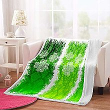 MSFDC dog blanket baby blanket Green abstract