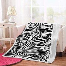 MSFDC dog blanket baby blanket White black stripes